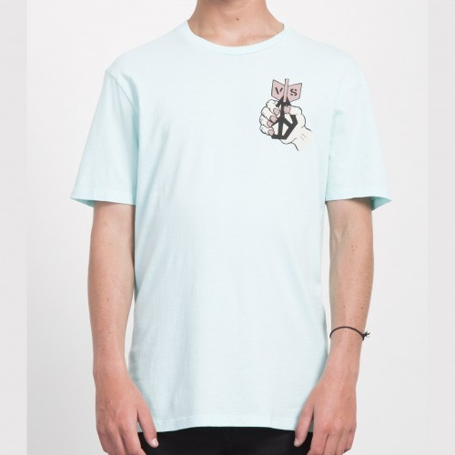 Camiseta Volcom Check Two Tee Pale Aqua