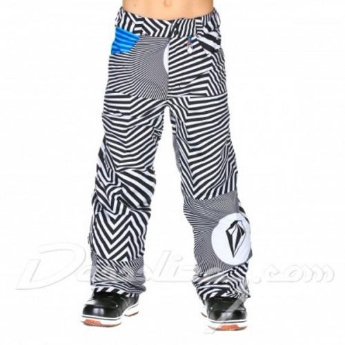 Pantalones de snowboard Volcom Discover Ins Pants Volca Stripe White