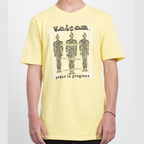Camiseta Volcom Progressive Tee Yellow