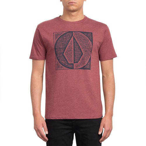 Camiseta Volcom Stamp Divide Tee Crimson