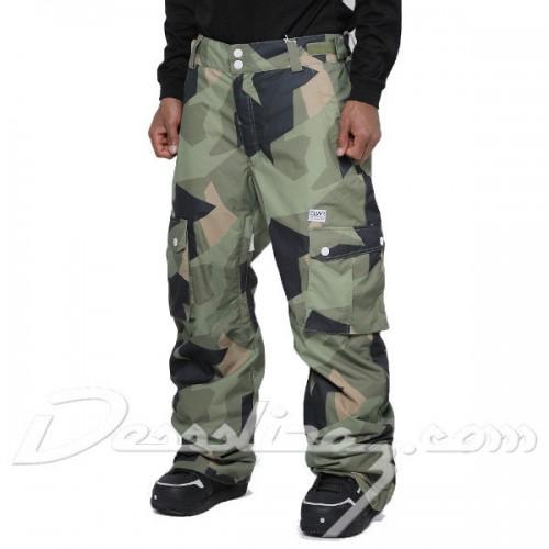 Pantalones de snowboard Wear Colour Asymmetric Pants Olive