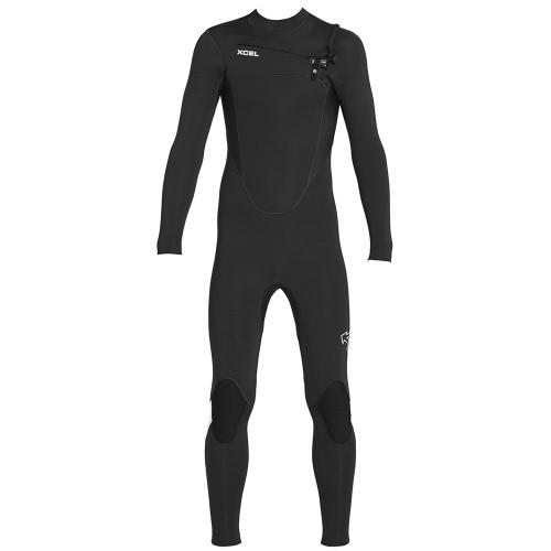 Neopreno de surf Xcel 4/3 Kids Comp Wetsuit CZ Black