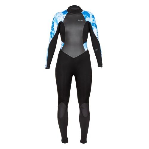 Neopreno de surf Xcel 4/3 Womens Axis Blue Camo