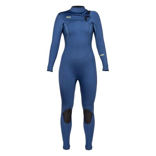 Neopreno de surf Xcel 4/3 Womens Comp Wetsuit BZ Cascade Blue