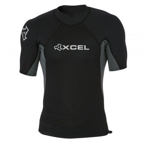 Neopreno de surf Xcel Axis Top 1 mm Short Sleeve Black
