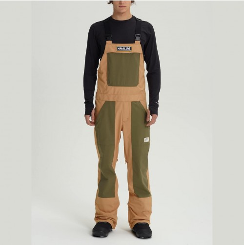 Pantalones de snowboard Analog Ice Out Bib Pant Camel/Dusty Olive