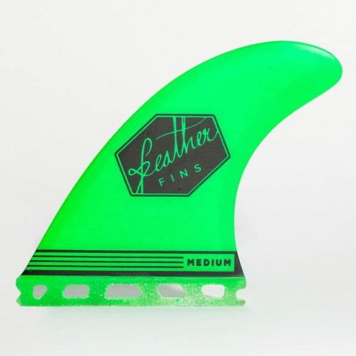 Quilla de surf Feather Fins Ultralight Single Tab Green