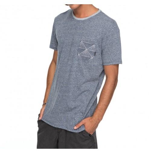 Camiseta Quiksilver Broken Leash Navy Blazer Heather