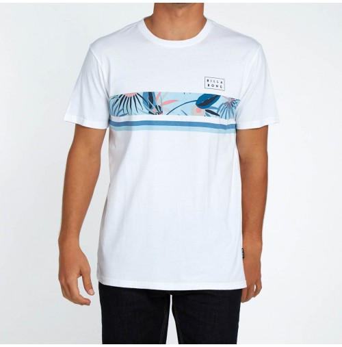 Camiseta Billabong Team Stripe Tee White