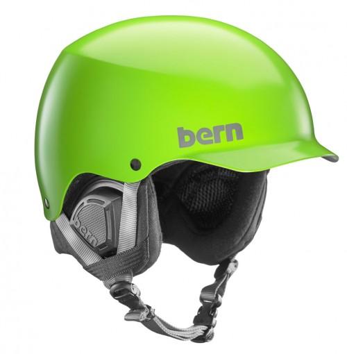 Casco de snowboard Bern Baker Black Liner Satin Neon Green