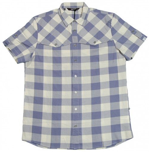 Camisa Makia Herringbone Check Blue