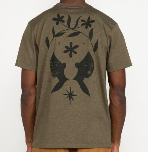 Camiseta RVCA Johanna Olk Tee Sequoia Green