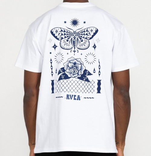 Camiseta RVCA Jesse Brown Fauna Tee White