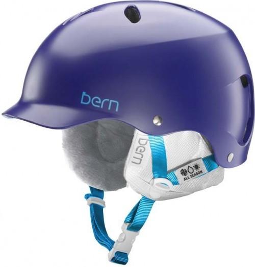 Casco de snowboard Bern Lenox Eps Satin Midnight Blue W/White Liner