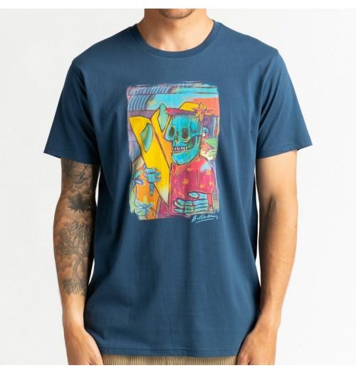 Camiseta Billabong Cubes Tee Denim Blue