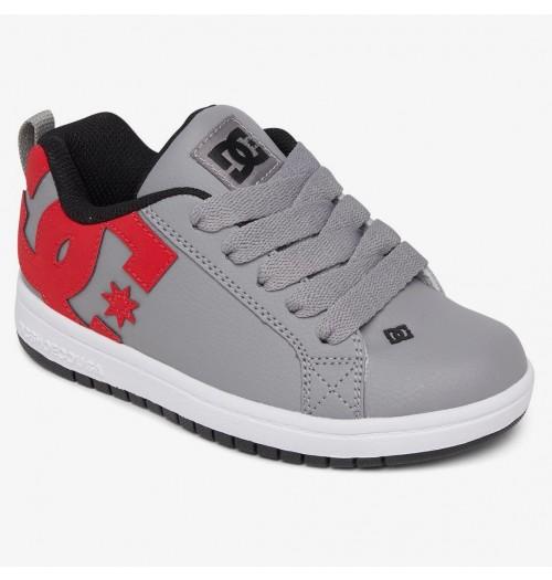 Zapatillas de bebé DC Court Graffik Grey/Red/White