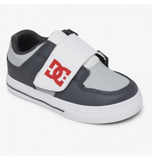 Zapatillas de bebé DC Pure V Grey/Red/White