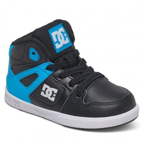 Zapatillas de bebé DC Rebound UL Black/Blue/White