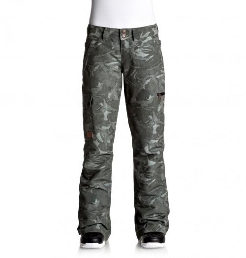 Pantalones de snowboard DC Recruit Pants British Camo Green Women