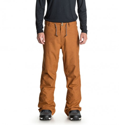 Pantalones de snowboard DC Relay Waxed Leather Brown