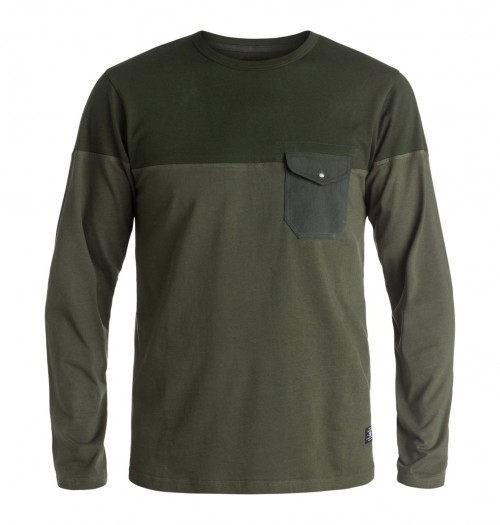 Camiseta DC Rockcliff Long Sleeve T-Shirt Dark Olive
