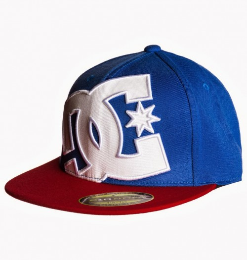 Gorra DC Ya Heard Flexfit Hat Blue/White/Red