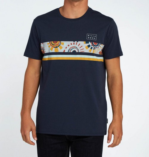 Camiseta Billabong Team Stripe Tee Navy