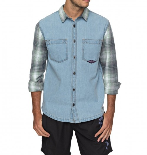 Camisa Quiksilver Dumb & Surfer Blue Used