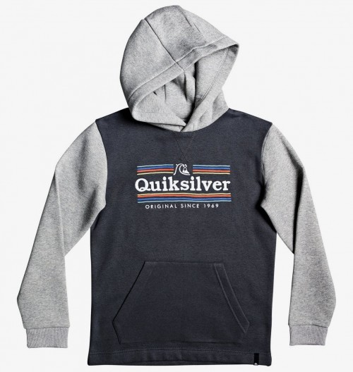 Sudadera Quiksilver Dove Sealers Hood Youth Iron Gate