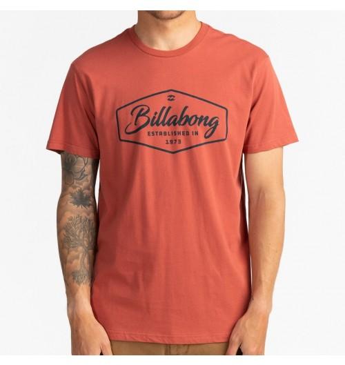 Camiseta Billabong Trademark Tee Deep Red