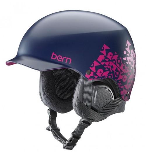 Casco de snowboard Bern Muse w/Black Liner Satin Navy Geo