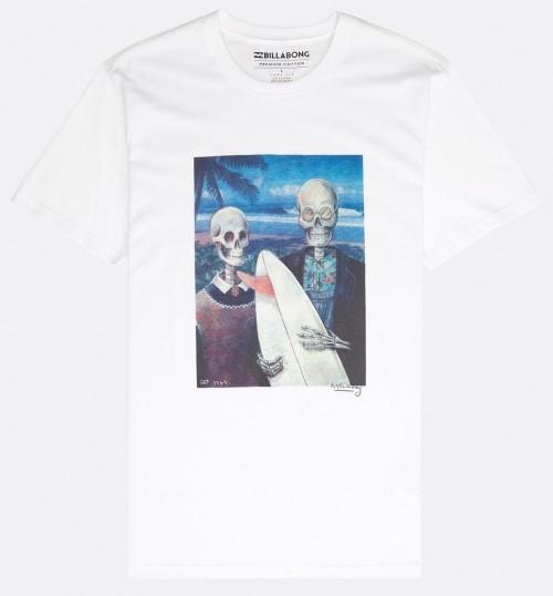 Camiseta Billabong Hawaiian Gothic Tee White