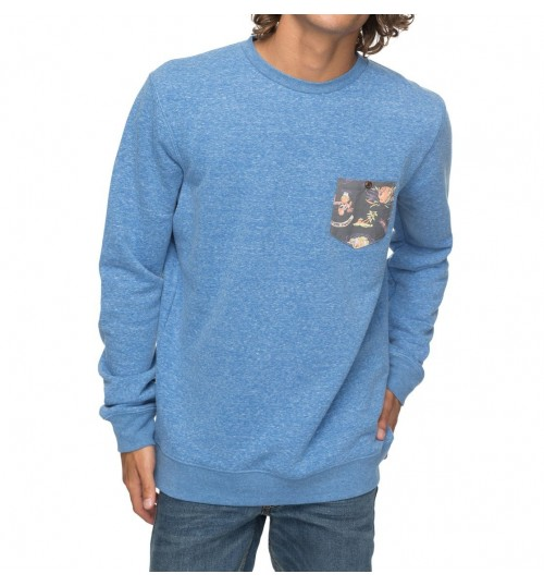 Sudadera Quiksilver Buckmann Bright Cobalt Heather