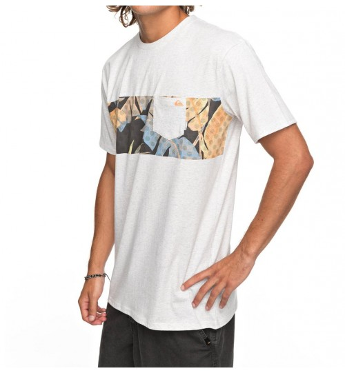 Camiseta Quiksilver City Vibes Snow White Heather