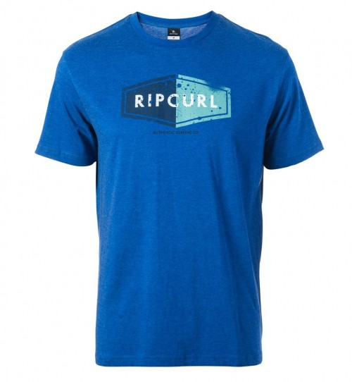 Camiseta Rip Curl Losange Logo Tee True Blue Marle