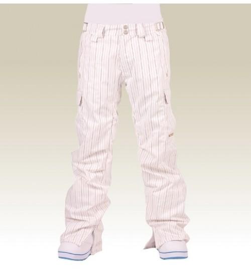 Pantalones de snowboard Foursquare S1 Sammoff White Pinestripe