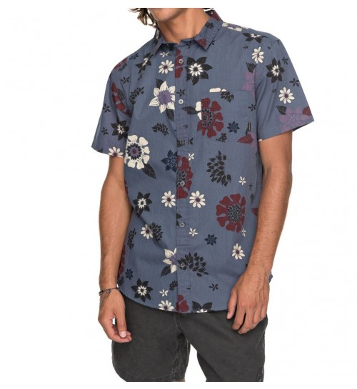 Camisa Quiksilver Sunset Floral Vintage Indigo