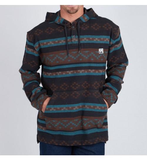 Sudadera Billabong Baja Flannel Pullover Black