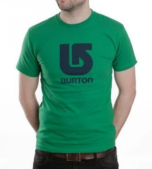 Camiseta Burton Boys Logo Vertical SS Kelly Green