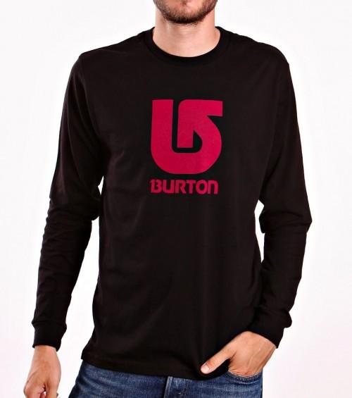 Camiseta Burton Boys Logo Vertical LS True Black/Red