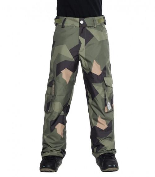 Pantalones de snowboard Wear Colour Trooper Pants Asymmetric Olive