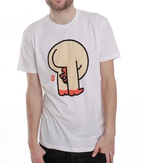 Camiseta Burton Helo AGN CVS SLM Bright White