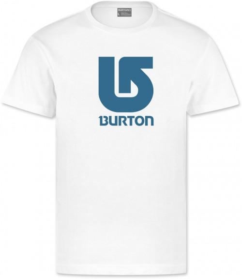Camiseta Burton Boys Logo Vertical SS Bright White/Turquoise