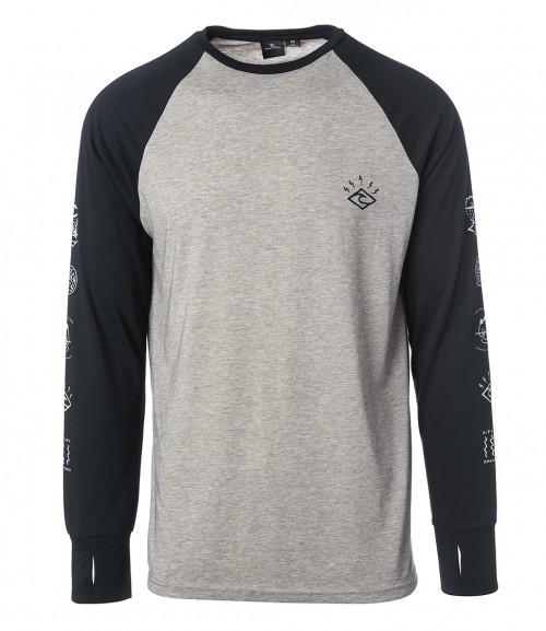 Camiseta de snowboard Rip Curl Shred Tee Jet Black