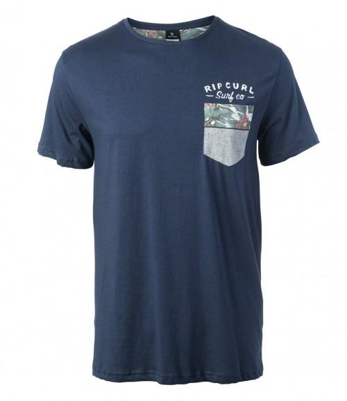 Camiseta Rip Curl Echo Beach Pocket Tee Mood Indigo