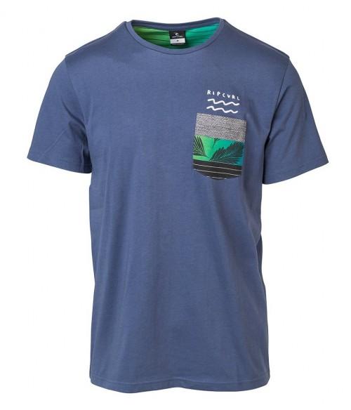 Camiseta Rip Curl Modern Pocket Tee Blue Indigo