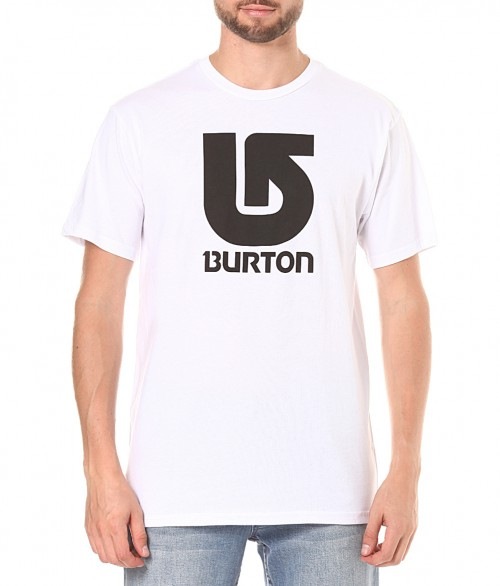 Camiseta Burton Boys Logo Vertical SS Bright White