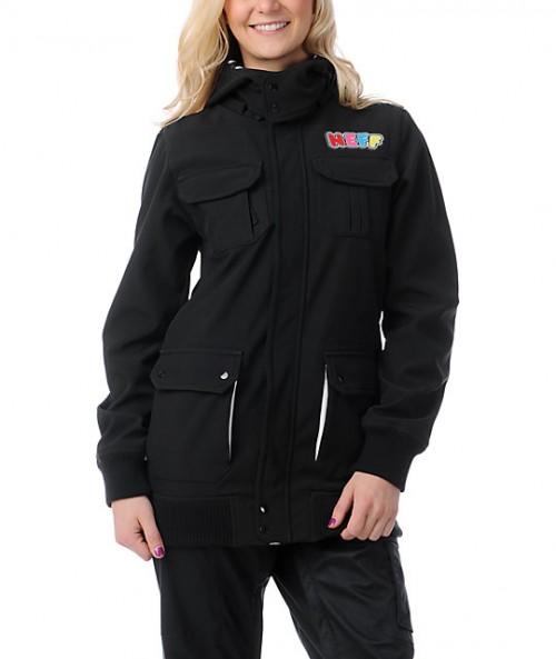 Chaqueta de snowboard Neff Summit Softshell Jacket Black
