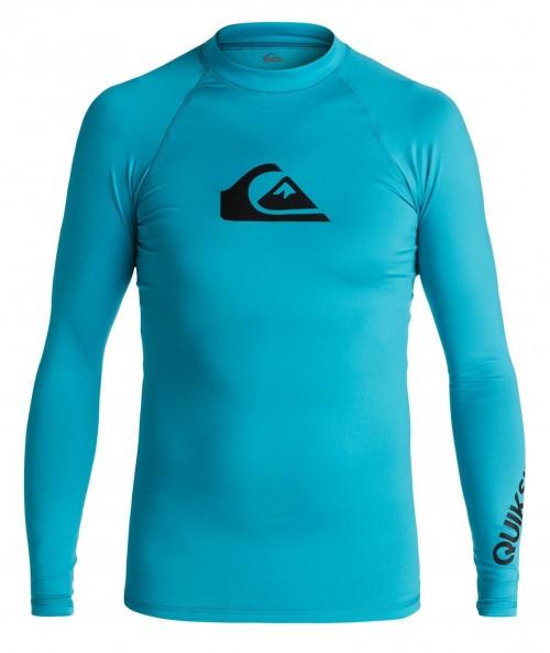 Lycras de surf Quiksilver All Time LS Rash Tank Blue Danube