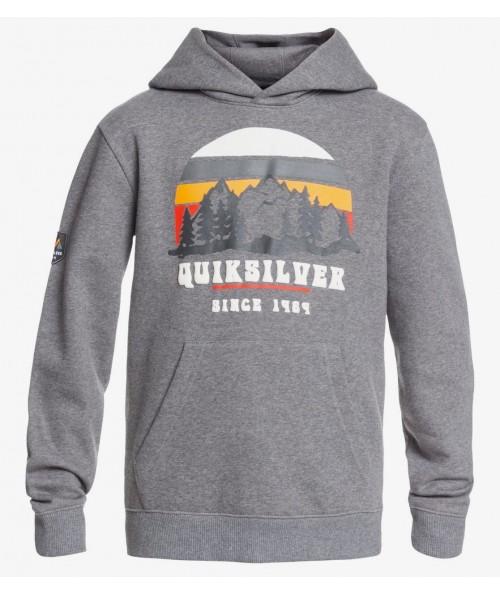 Sudadera de snowboard Quiksilver Big Logo Snow Youth Hoodie Heather Grey
